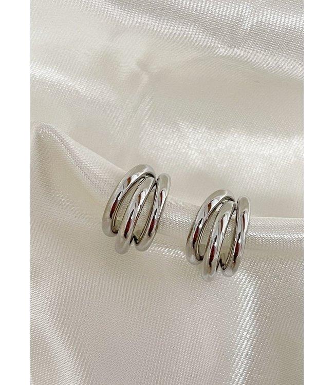 'Juliette' Earrings Silver (verguld)