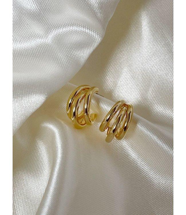 'Juliette' Earrings Gold (verguld goud)