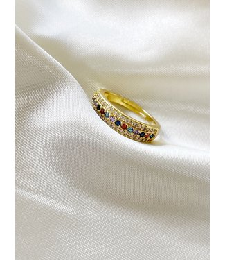 'A girl's best friend' Ring - goud verguld (verstelbaar)