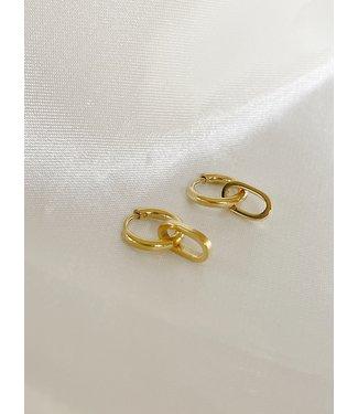'Lorette' earrings gold - Stainless Steel