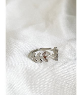 Silver Leafs Ring - Stainless Steel