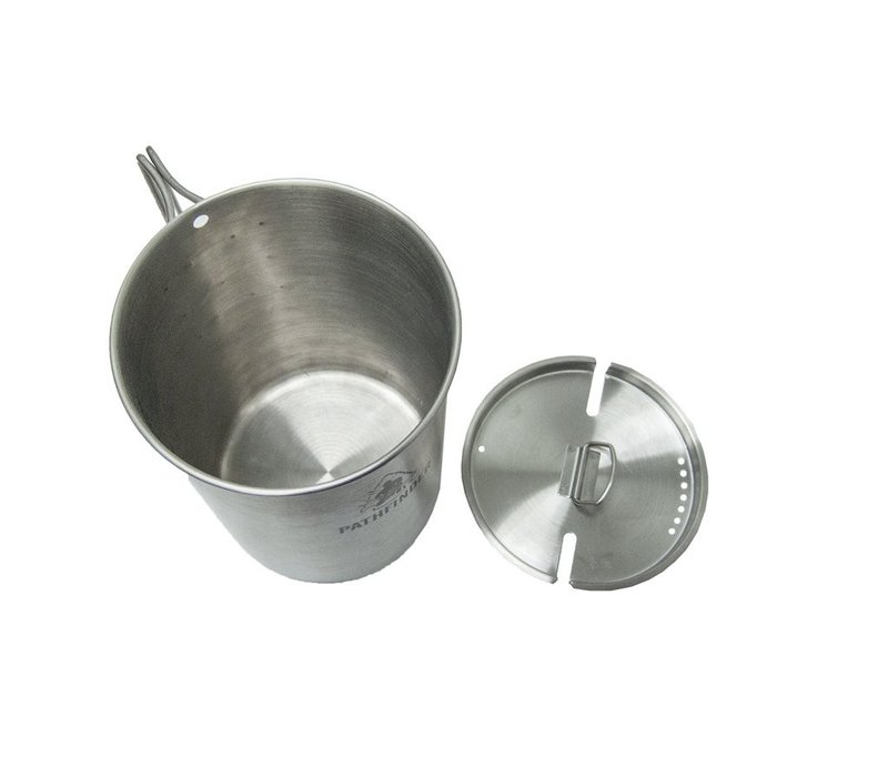 Pathfinder School Stainless Steel 48oz Nesting Cup And Lid Set
