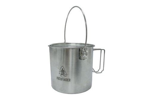 Pathfinder School Pathfinder School RVS pan met deksel 1,8 liter Bush pot