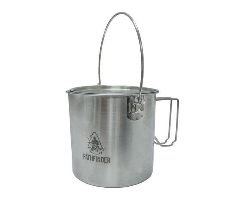Pathfinder School RVS pan met deksel 1,8 liter Bush pot