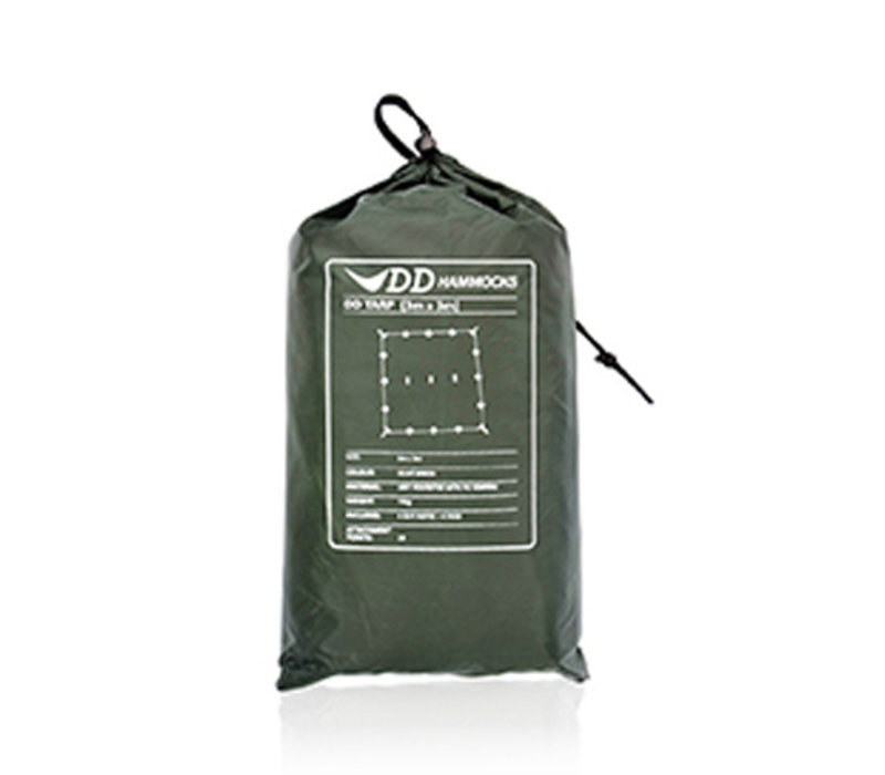 DD Hammocks Tarp 3x3 - Olive Green, Coyote Brown of Camo