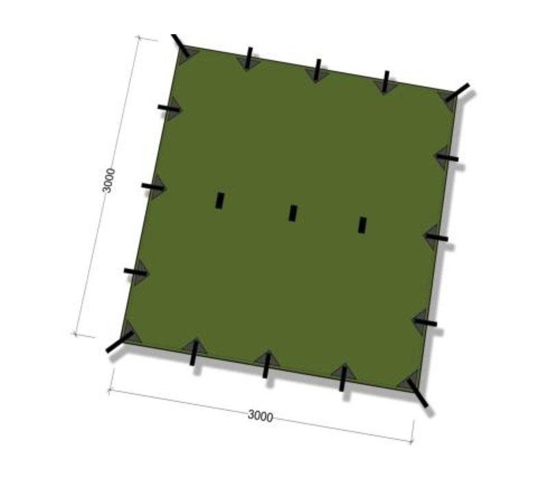 DD Hammocks Tarp 3x3 - Olive Green