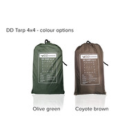 DD Hammocks Tarp 4x4 - Olive Green or Coyote Brown