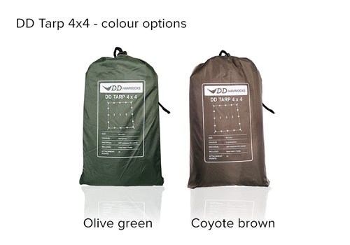 DD Hammocks DD Hammocks Tarp Olive Green of Coyote Brown  4x4
