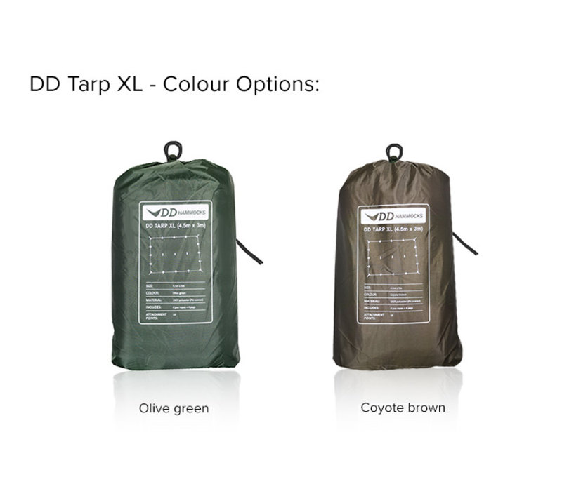 DD Hammocks Tarp XL 4,5x3 - Olive Green of Coyote Brown