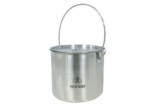 Pathfinder School Pathfinder School Stainless Steel Bushpot with lid (3.5 L)