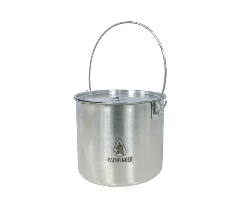Pathfinder School RVS Bushpot met deksel (3.5 L)