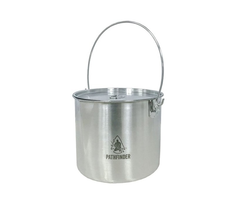 Pathfinder School Stainless Steel Bushpot with lid (3.5 L)