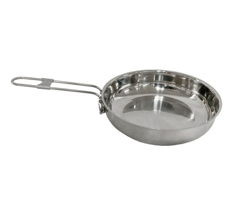 Pathfinder School stainless steel frying pan with lid