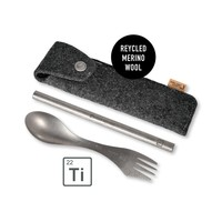 Light my Fire Eco Spork'n Straw Kit Titanium