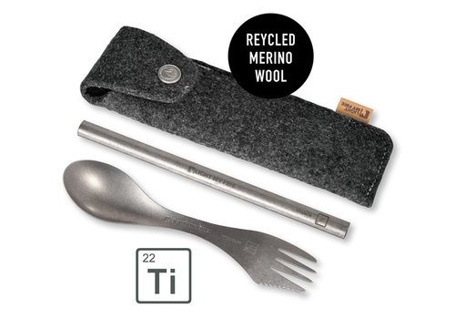 Light My Fire Light my Fire Eco Spork'n Straw Kit Titanium