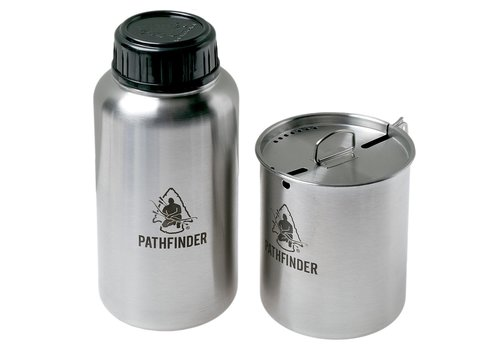 Pathfinder School Pathfinder School 32 oz Stainless Steel Water Bottle and Nesting Cup Set