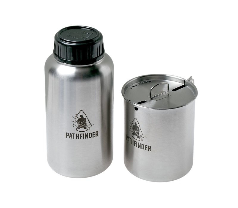 Pathfinder School 32 oz Stainless Steel Water Bottle and Nesting Cup Set
