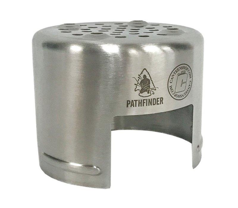 Pathfinder RVS Stove voor Drinkfles of Beker