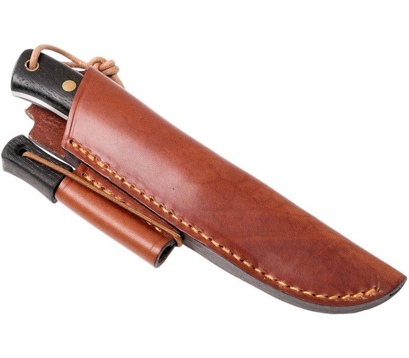 Casstrom Woodsman Knife Bog Oak met firesteel