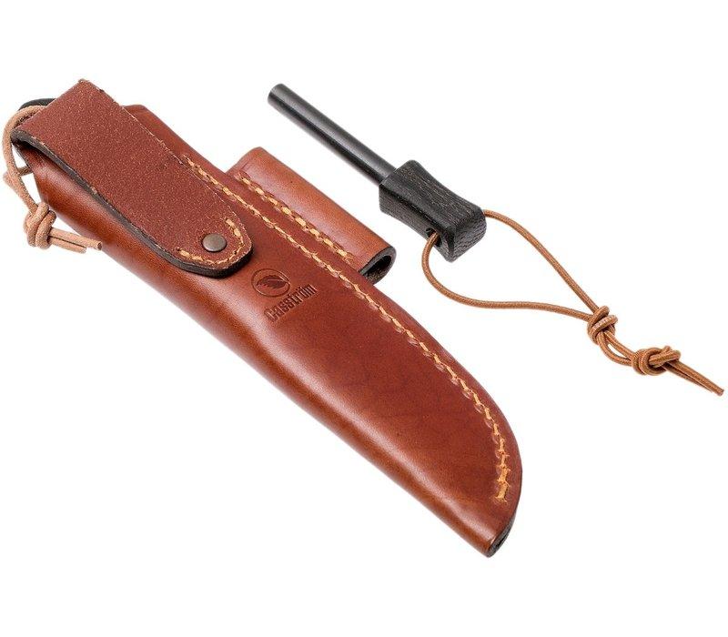 Casstrom Woodsman Knife Bog Oak with firesteel