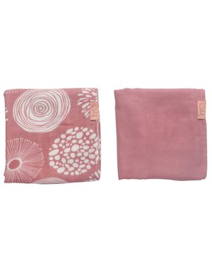 Witlof for kids Hydrofiele doek 80x80 Sparkle Rose 2-pack