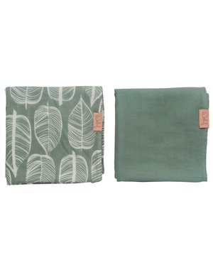 Witlof for kids Hydrofiele doek 80x80 Beleaf Sage Green 2-pack