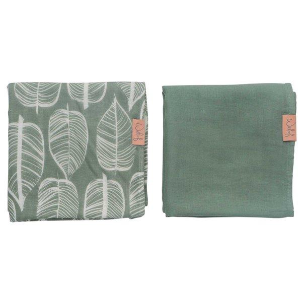 Witlof for kids Hydrofiele doek 80x80 Beleaf Sage Green 2-pack