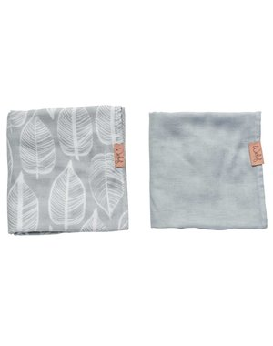 Witlof for kids Hydrofiele doek 80x80 Beleaf Warm Grey 2-pack