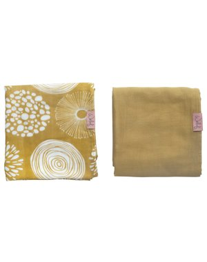 Witlof for kids Hydrofiele doek 80x80 Sparkle Sweet Honey 2-pack