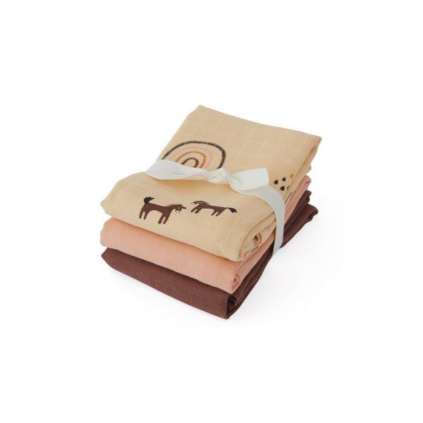 OYOY Scandinavian Living Design Hydrofiele doek 70x70 Rainbow 3-pack