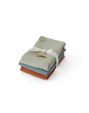OYOY Scandinavian Living Design Hydrofiele doek 70x70 Tijger 3-pack