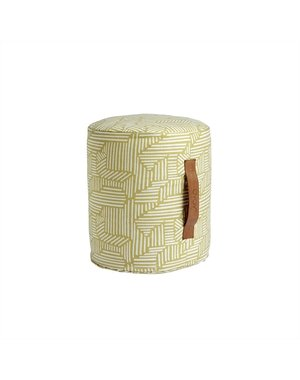 OYOY Scandinavian Living Design Cilinder Pouf Geel