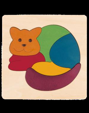 Hape Houten Puzzel Regenboog Kat