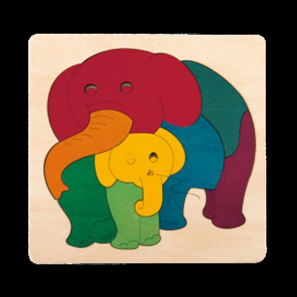 Hape Houten Puzzel Regenboog Olifantjes