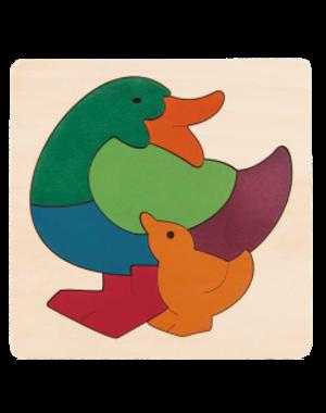Hape Houten Puzzel Regenboog Eendjes
