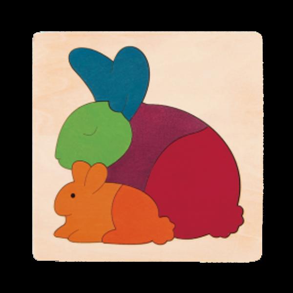Hape Houten Puzzel Regenboog Konijntjes