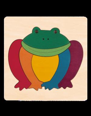 Hape Houten Puzzel Regenboog Kikker