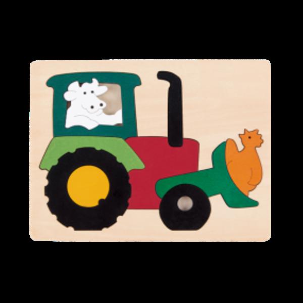 Hape Houten Puzzel Tractor