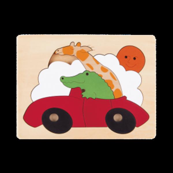 Hape Houten Puzzel Sportauto