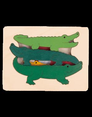 Hape Houten Puzzel Krokodillen
