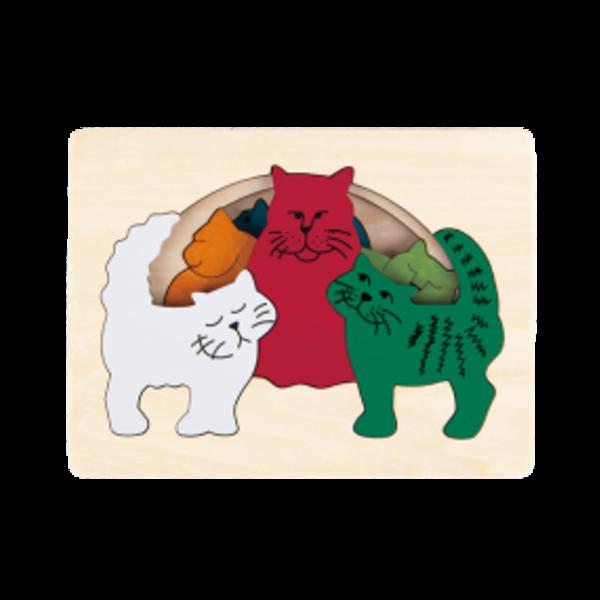 Hape Houten Puzzel Katten