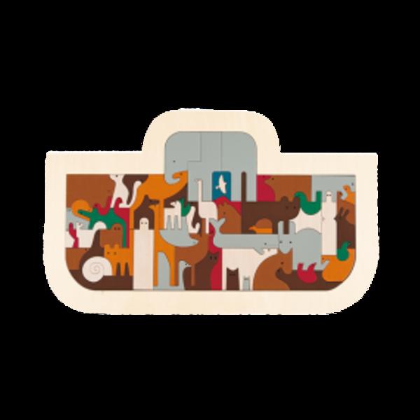 Hape Houten Puzzel De ark van Noach