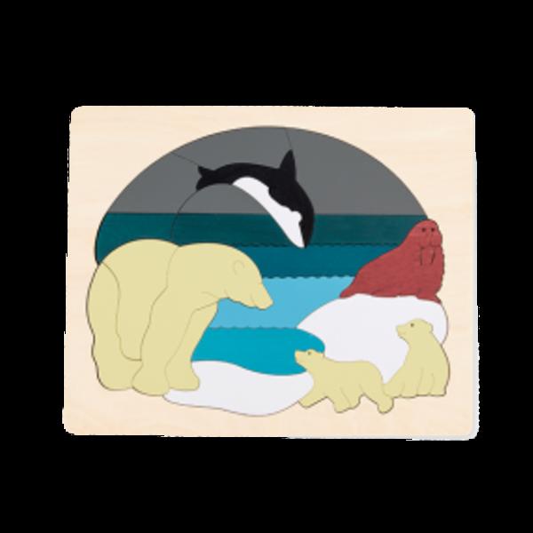 Hape Houten Puzzel Dieren van de Noordpool