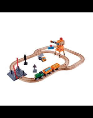 Hape Treinbaan spoorwegovergang en hijskraan