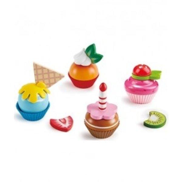Hape Houten keukenspeelset cupcakes