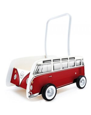 Hape Loopauto klassieke Volkswagenbus rood