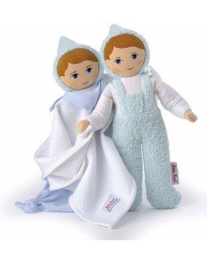 Käthe Kruse Twee poppenvriendjes lichtblauw