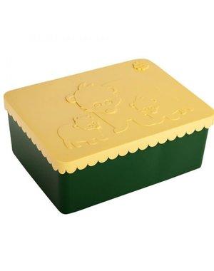 Blafre Lunchbox Beer groen en geel