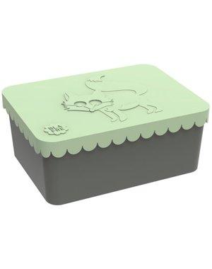 Blafre Lunchbox vos lichtgroen
