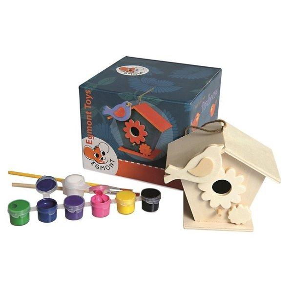 Egmont toys Houten Vogelhuisje: Zelf verven
